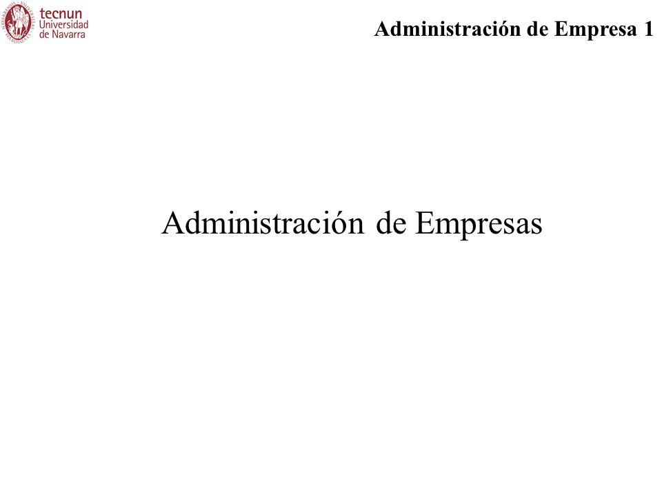 Administración de Empresa 1 Administración de Empresas