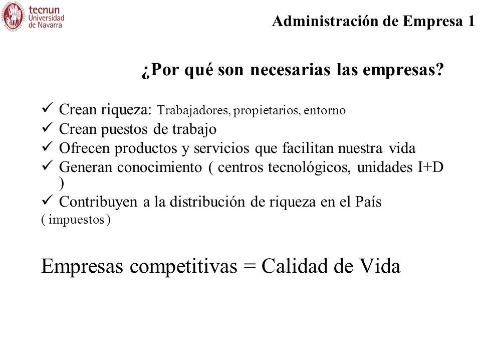 Administración de Empresa 1 Gastos: Corresponden a los recursos utilizados para realizar las diferentes actividades de la empresa