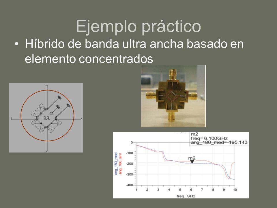 Ejemplo práctico Híbrido de banda ultra ancha basado en elemento concentrados