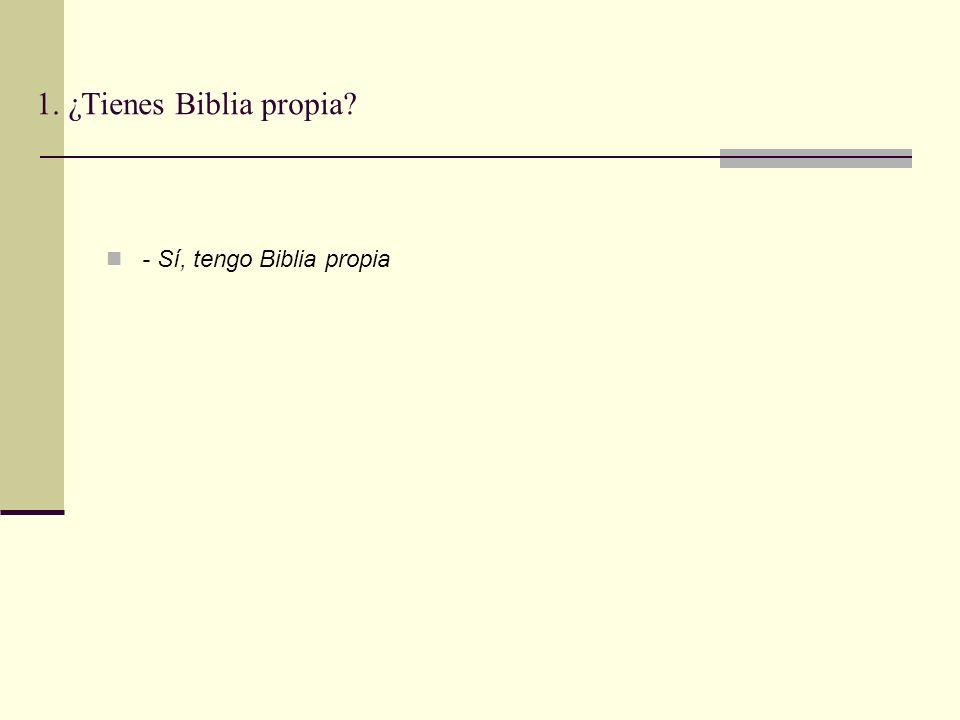 1. ¿Tienes Biblia propia? - Sí, tengo Biblia propia