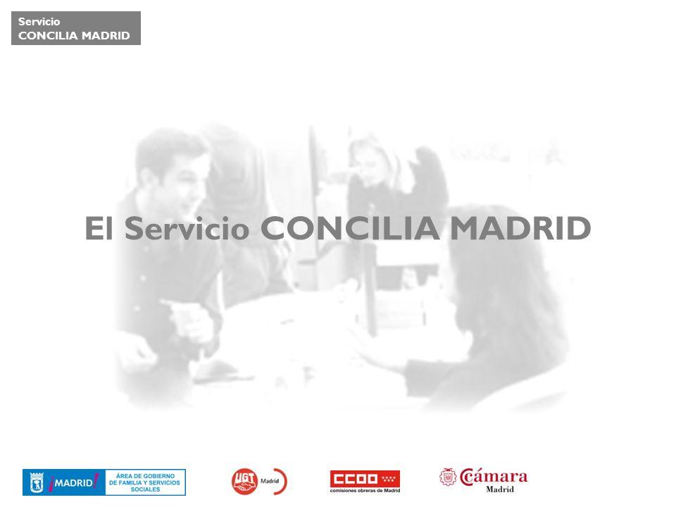 Servicio CONCILIA MADRID El Servicio CONCILIA MADRID