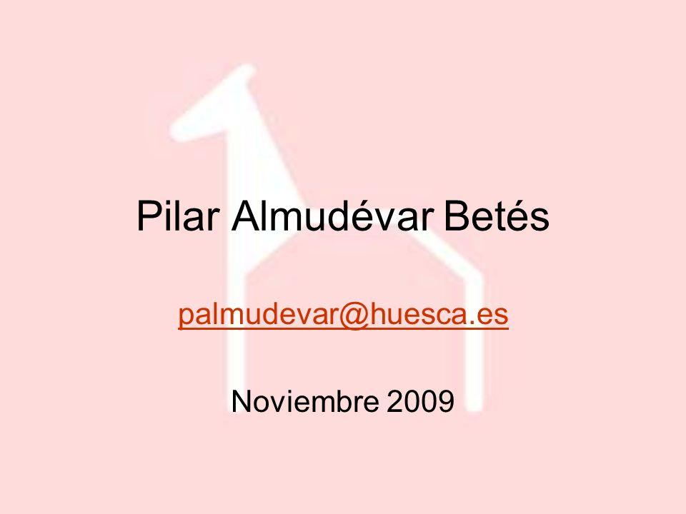 Pilar Almudévar Betés palmudevar@huesca.es Noviembre 2009