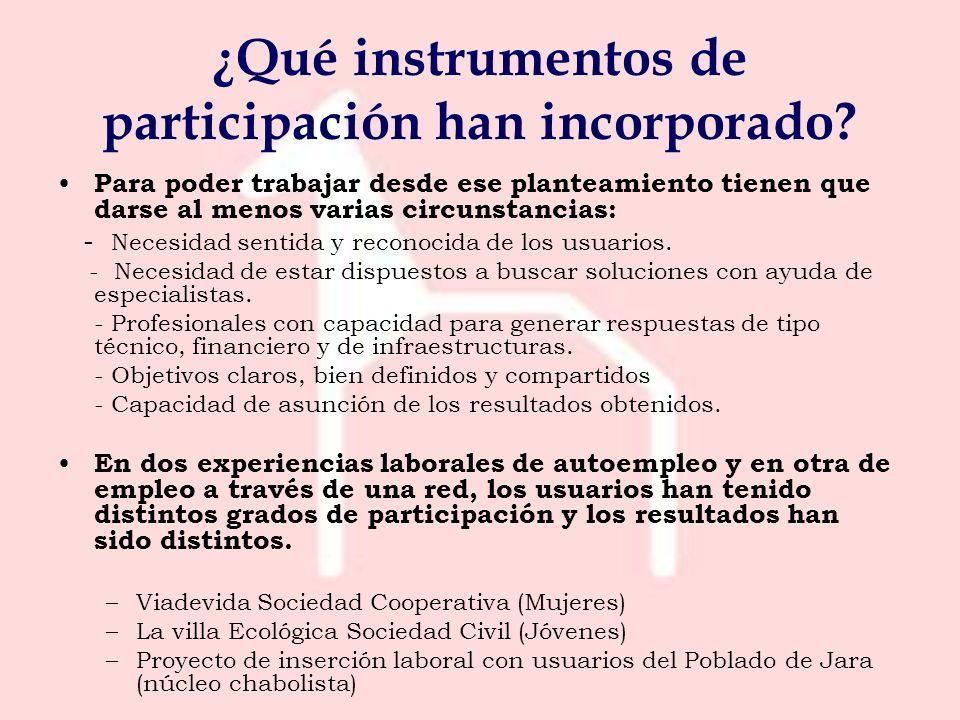¿Qué instrumentos de participación han incorporado.