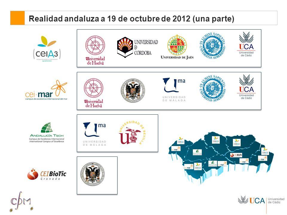 El CeiA3 Realidad andaluza a 19 de octubre de 2012 (una parte)