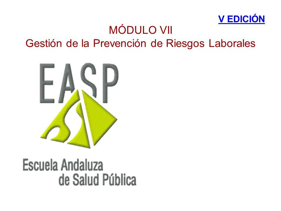MÓDULO VII Gestión de la Prevención de Riesgos Laborales V EDICIÓN