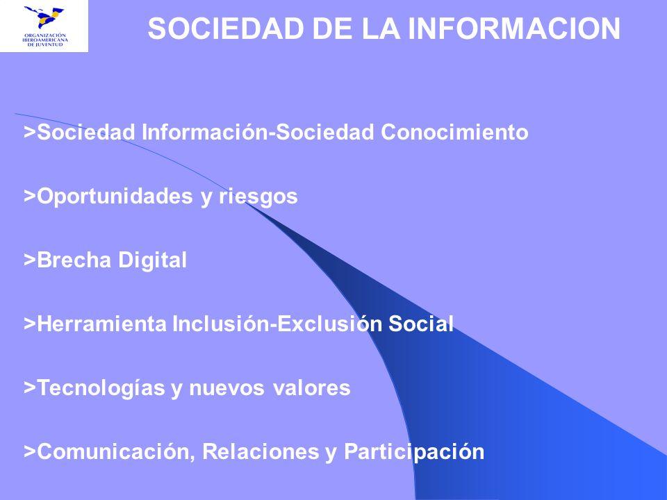 >Sociedad Información-Sociedad Conocimiento >Oportunidades y riesgos >Brecha Digital >Herramienta Inclusión-Exclusión Social >Tecnologías y nuevos val