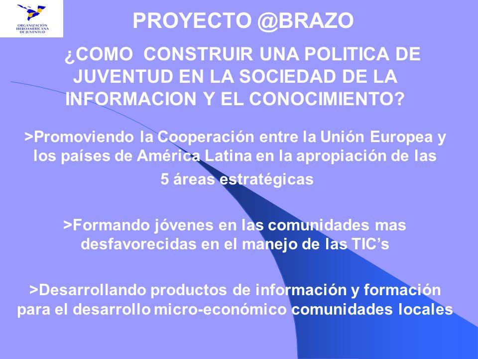 ¿COMO CONSTRUIR UNA POLITICA DE JUVENTUD EN LA SOCIEDAD DE LA INFORMACION Y EL CONOCIMIENTO? >Promoviendo la Cooperación entre la Unión Europea y los