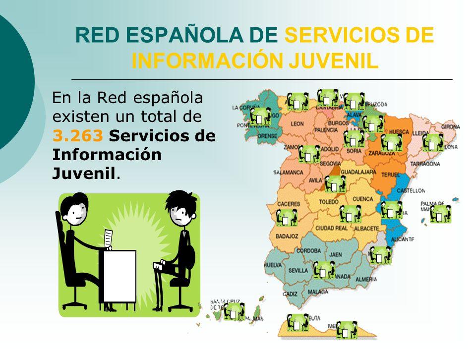 En la Red española existen un total de 3.263 Servicios de Información Juvenil.
