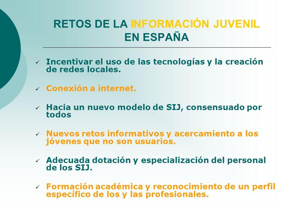 Incentivar el uso de las tecnologías y la creación de redes locales. Conexión a internet. Hacia un nuevo modelo de SIJ, consensuado por todos Nuevos r