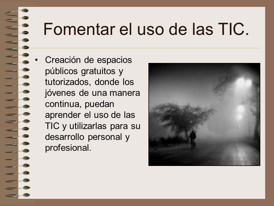 Fomentar el uso de las TIC.