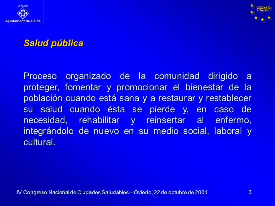 3 Salud pública Proceso organizado de la comunidad dirigido a proteger, fomentar y promocionar el bienestar de la población cuando está sana y a resta