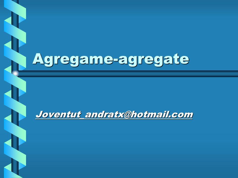 Agregame-agregate Joventut_andratx@hotmail.com