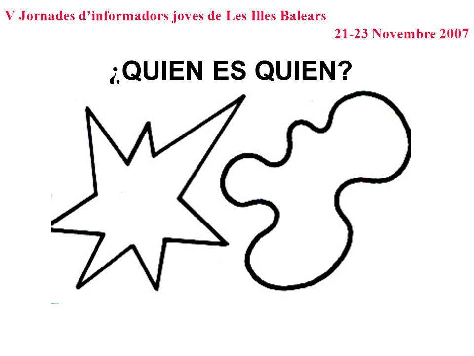 V Jornades dinformadors joves de Les Illes Balears 21-23 Novembre 2007 ¿ QUIEN ES QUIEN?
