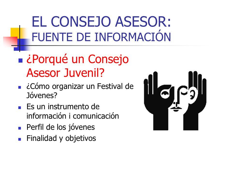 EL CONSEJO ASESOR: FUENTE DE INFORMACIÓN ¿Porqué un Consejo Asesor Juvenil.
