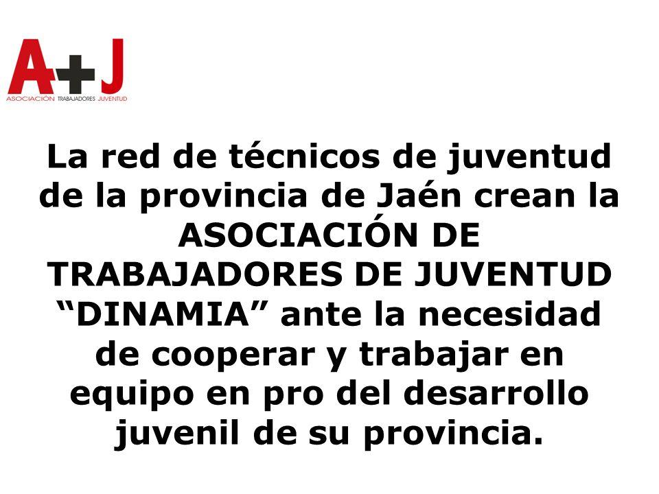 La red de técnicos de juventud de la provincia de Jaén crean la ASOCIACIÓN DE TRABAJADORES DE JUVENTUD DINAMIA ante la necesidad de cooperar y trabajar en equipo en pro del desarrollo juvenil de su provincia.