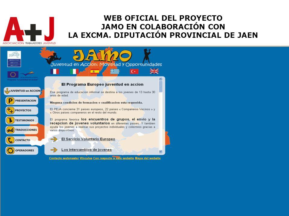 WEB OFICIAL DEL PROYECTO JAMO EN COLABORACIÓN CON LA EXCMA. DIPUTACIÓN PROVINCIAL DE JAEN