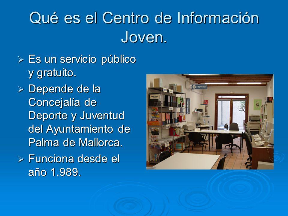Qué es el Centro de Información Joven. Es un servicio público y gratuito.
