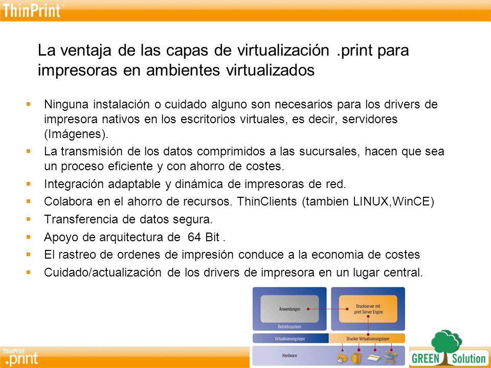 Cliente / ServidorSistema HostAplicaciones-WebVirtualización Terminal Server / Citrix.print Server Engine Servidor de impresión como componente central
