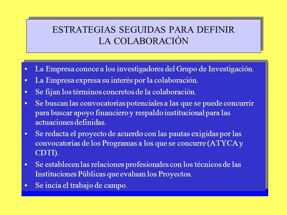 LOS CONTENIDOS DEL PROYECTO (aspectos más relevantes) PLANTEAMIENTO INICIAL: Objetivos de tipo operativo: –Diseño del campo de experimentación.