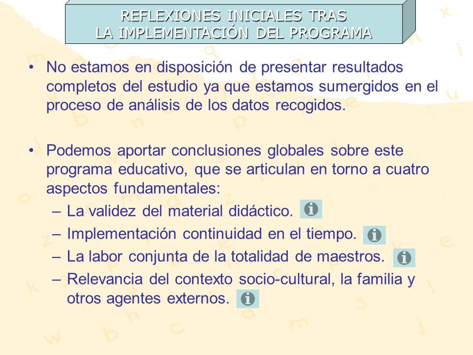 Actividades aplicables con buen acogimiento por parte de alumnos y maestros.