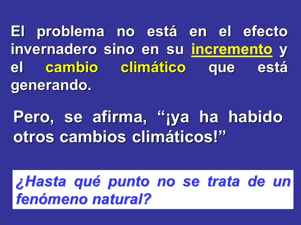 El problema no está en el efecto invernadero sino en su y el cambio climático que está generando.