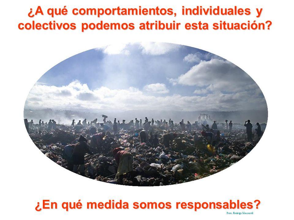 ¿A qué comportamientos, individuales y colectivos podemos atribuir esta situación.
