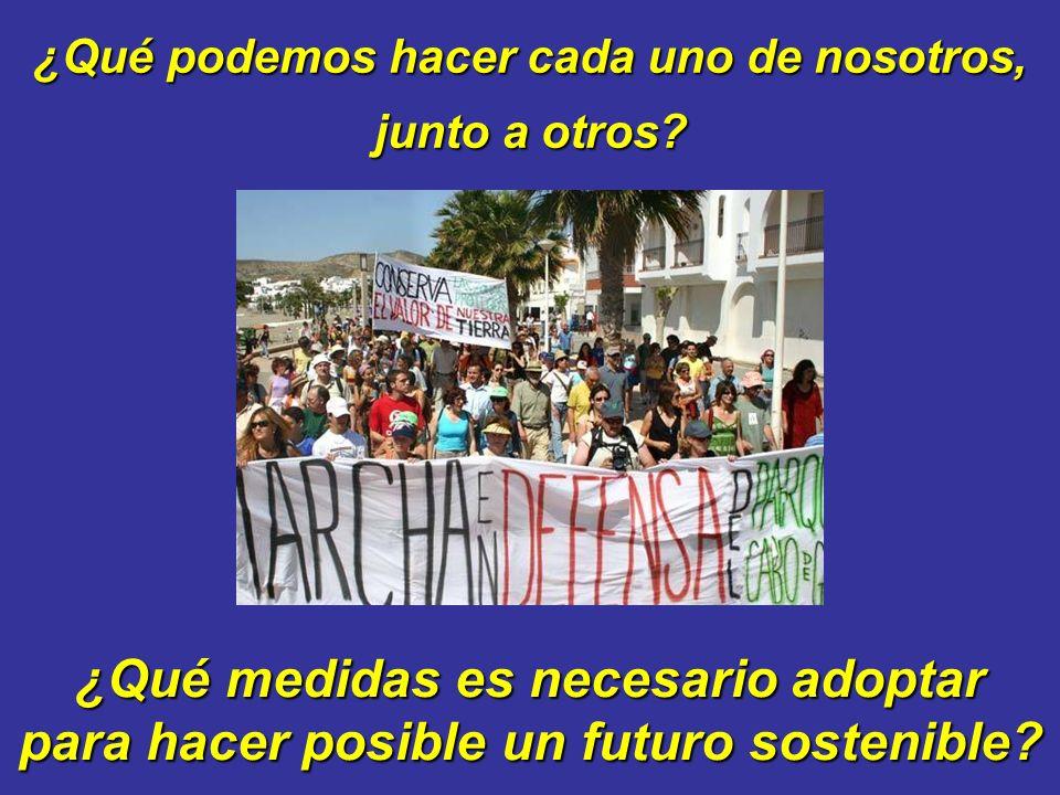 ¿Qué podemos hacer cada uno de nosotros, ¿Qué medidas es necesario adoptar para hacer posible un futuro sostenible.