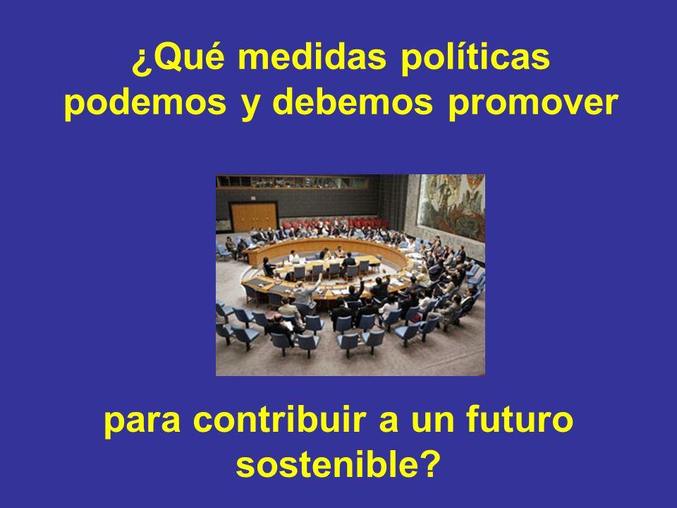 ¿Qué medidas políticas podemos y debemos promover para contribuir a un futuro sostenible
