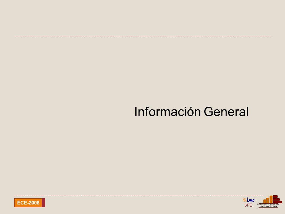 SPE Ministerio de Educación República del Perú ECE-2008 Información General