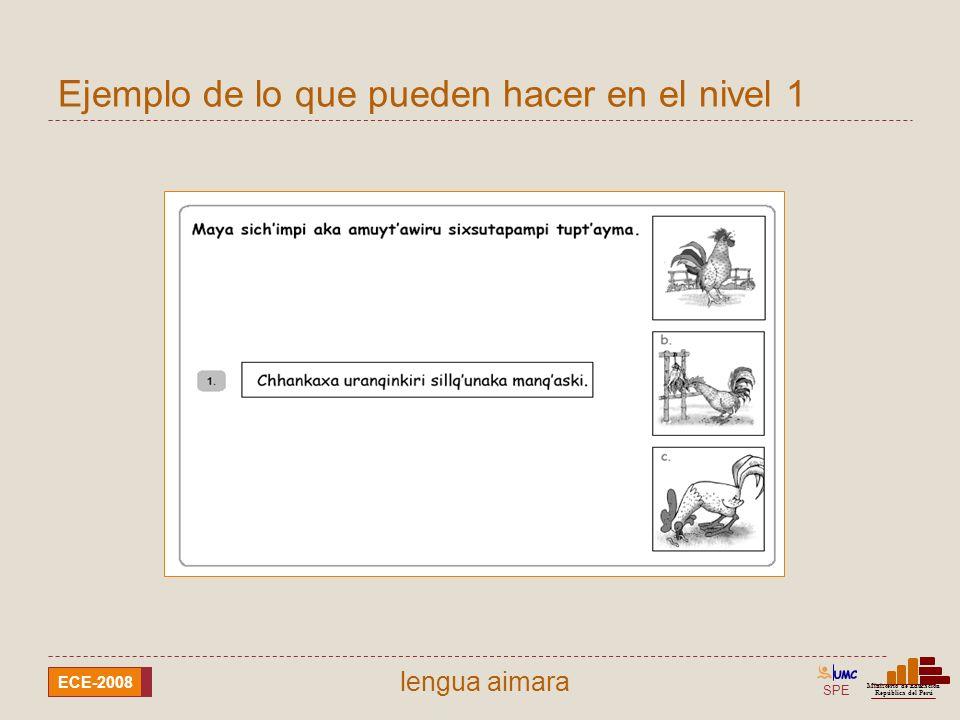 SPE Ministerio de Educación República del Perú ECE-2008 lengua awajún Según el texto, ¿cuánto cuesta la inscripción para fulbito.