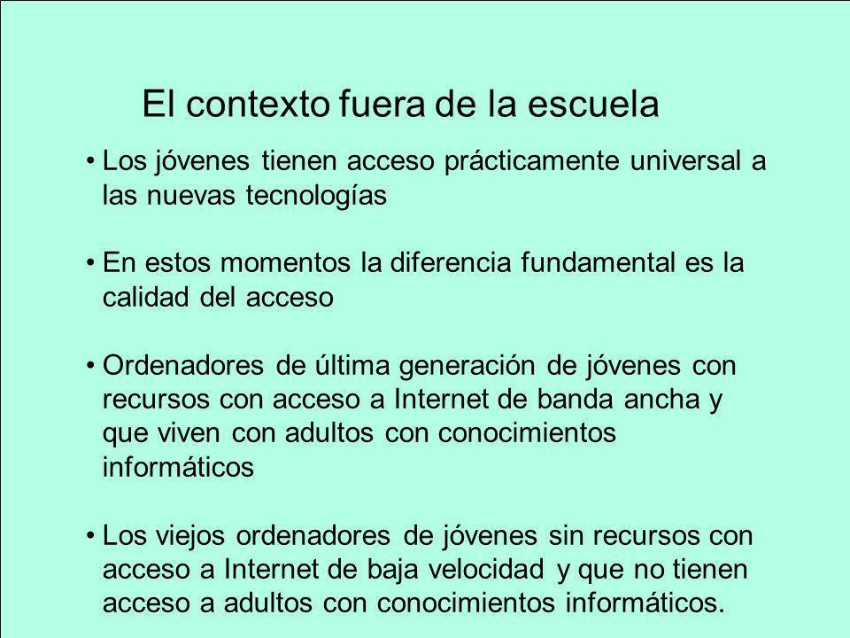 Uso activo de las nuevas tecnologías Para el establecimiento de redes sociales Para apoyar el trabajo escolar Para jugar Para su uso para actividades de ocio general Para el aprendizaje social