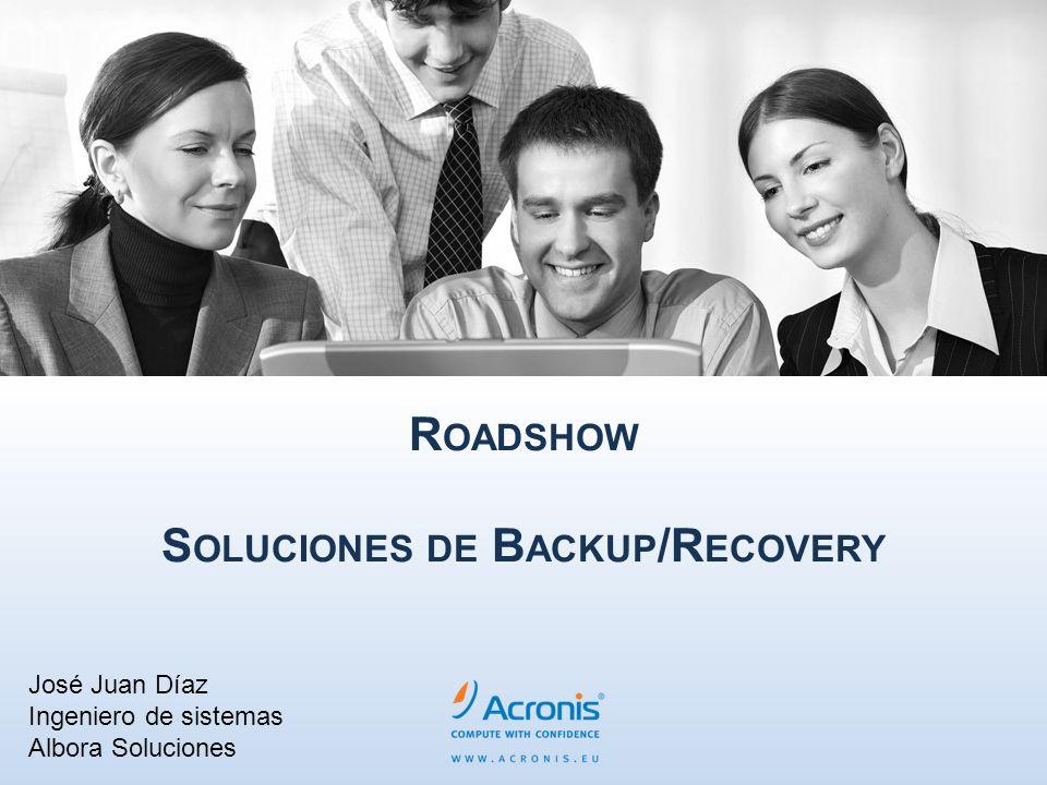 R OADSHOW S OLUCIONES DE B ACKUP /R ECOVERY José Juan Díaz Ingeniero de sistemas Albora Soluciones