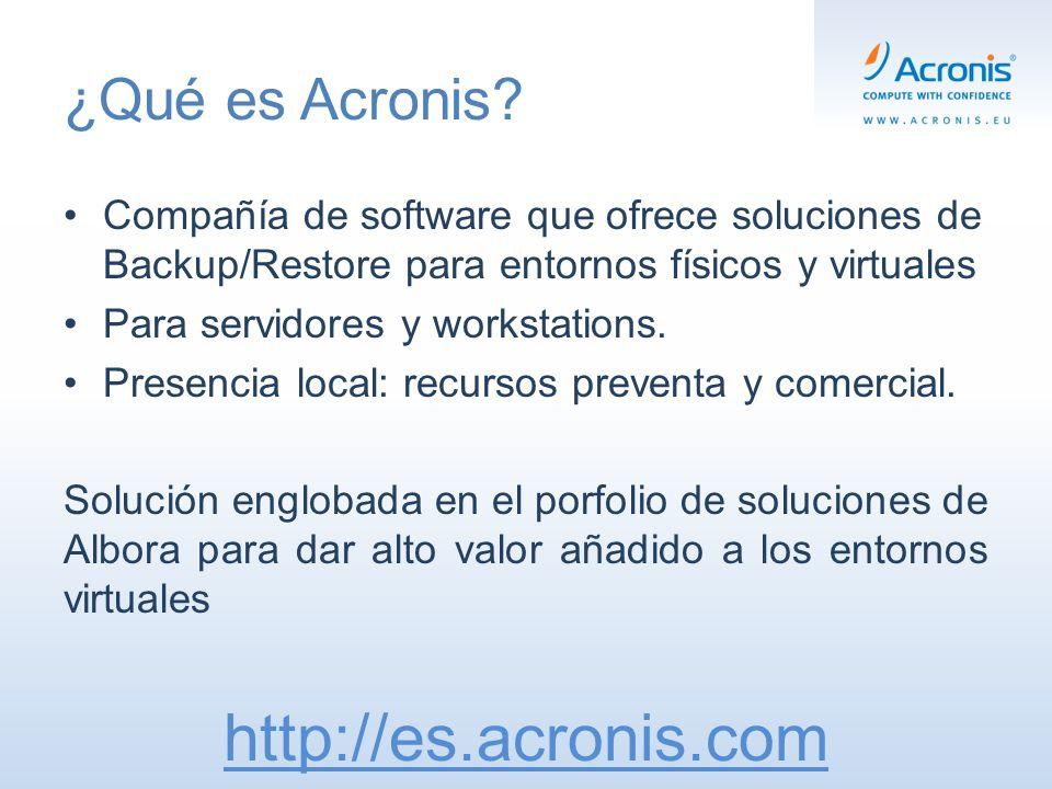 Soporte Pre-Venta / Comercial (93 344 33 49) Alberto EstebanConcepción Bello Channel Sales Manager Ibérica Corporate Account Manager alberto.esteban@acronis.comconcepción.gomez@acronis.com Tel.