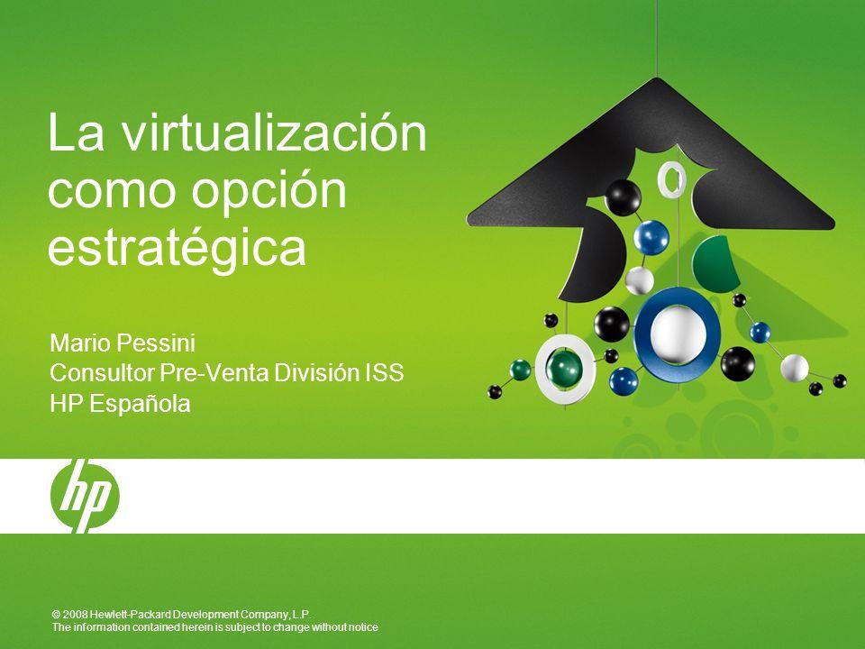 1217 January 2014 Virtualización de las conexiones LAN y SAN en HP BladeSystem c-Class Virtual Connect permite llevar la virtualización un paso más allá El software de virtualización permite abstraer las tarjetas físicas del servidor, lo que permite mover máquinas virtuales entre servidores.