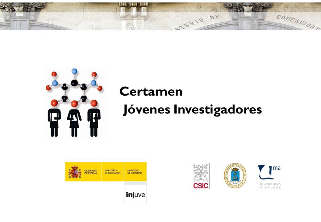 www.educacion.es 4 Certamen Jóvenes Investigadores