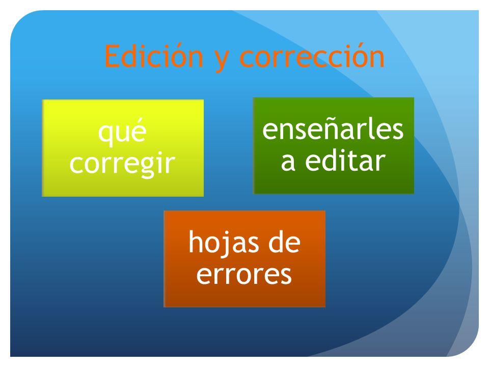 Edición y corrección qué corregir enseñarles a editar hojas de errores
