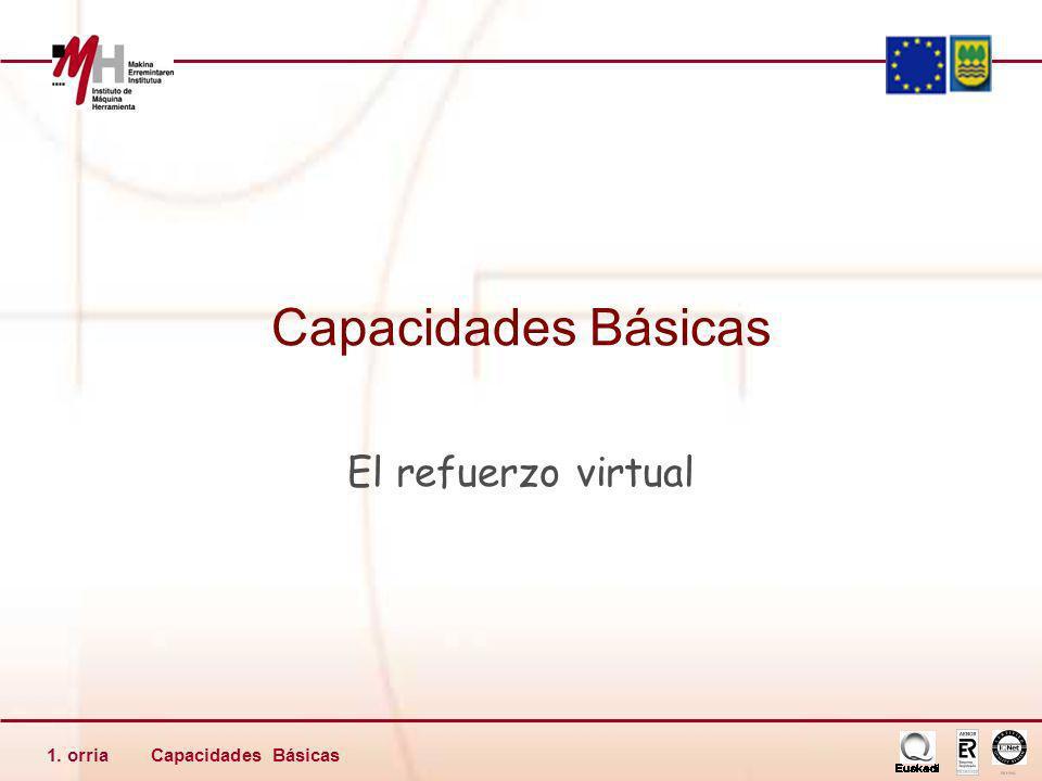 Capacidades Básicas1. orria Capacidades Básicas El refuerzo virtual