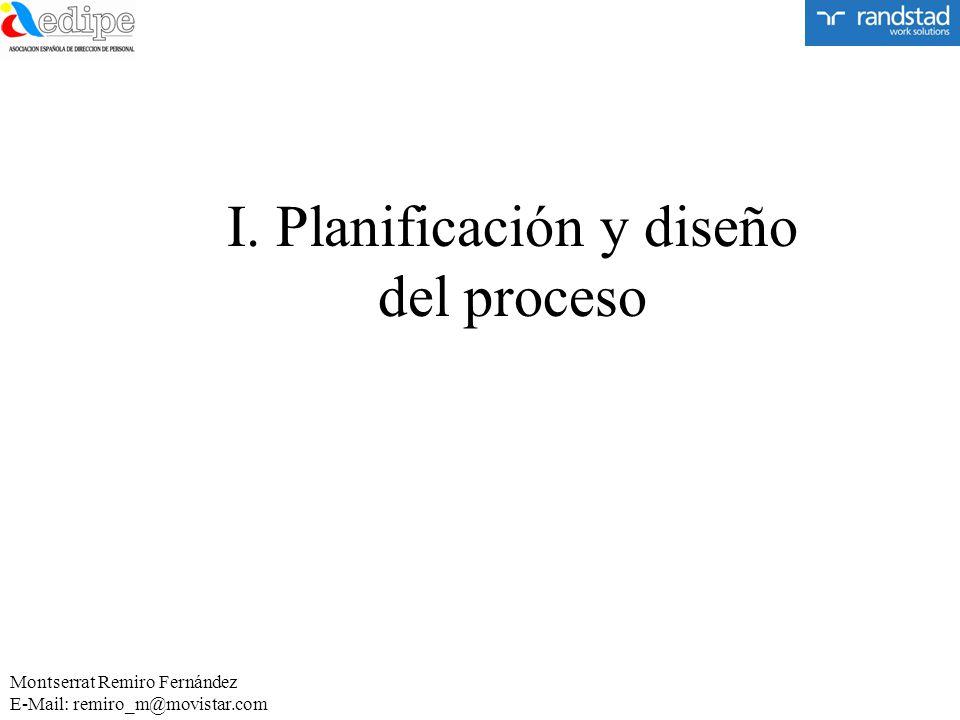 I. Planificación y diseño del proceso Montserrat Remiro Fernández E-Mail: remiro_m@movistar.com