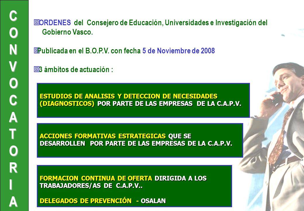 ORDENES del Consejero de Educación, Universidades e Investigación del Gobierno Vasco.