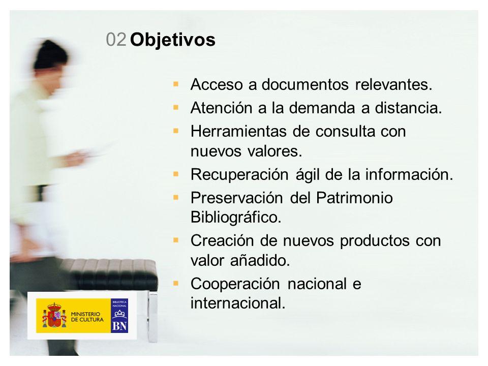 Objetivos Acceso a documentos relevantes. Atención a la demanda a distancia.