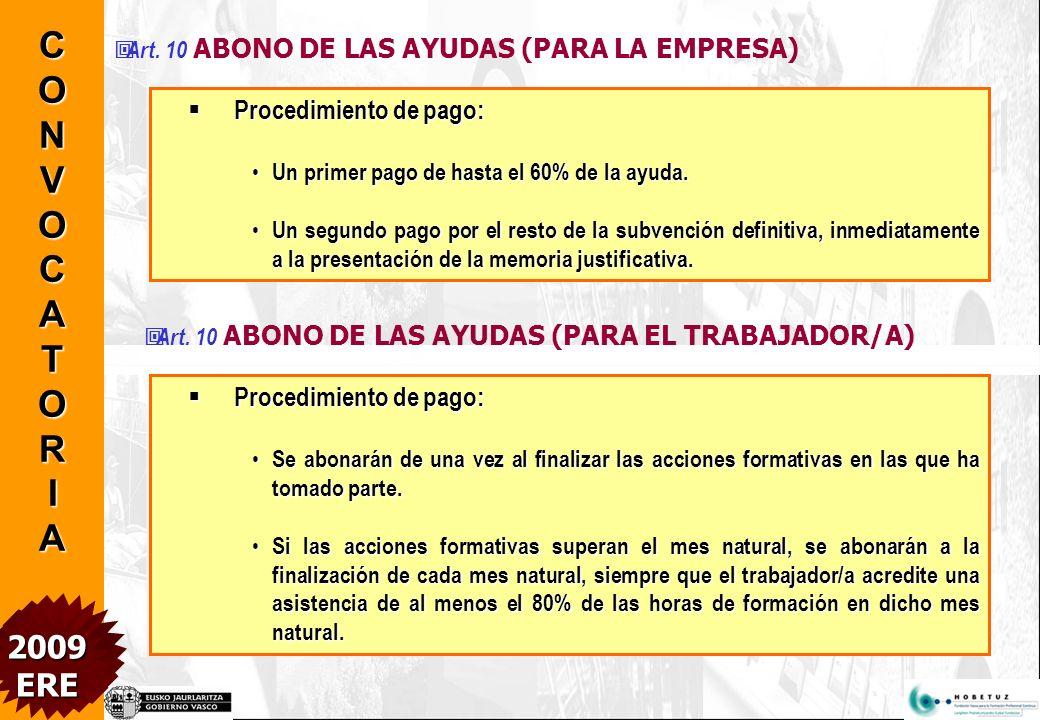 Art. 8 INICIACIÓN DE PROCEDIMIENTO DE SOLICITUD: Soportes y modelos: Soportes y modelos: www.hobetuz.com www.hobetuz.com Presentación: en papel y sopo