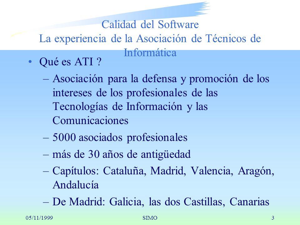 05/11/1999SIMO3 Calidad del Software La experiencia de la Asociación de Técnicos de Informática Qué es ATI .