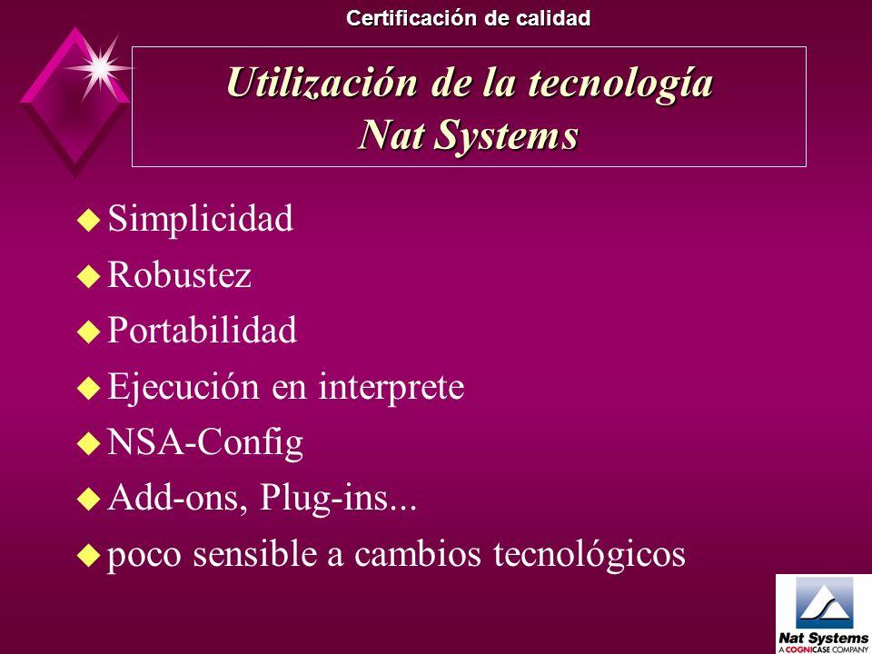La Software Factory (III) Certificación de calidad u Calidad u Complejidad u Estadísticas u Documentación automática u Permite el mantenimiento u Robu