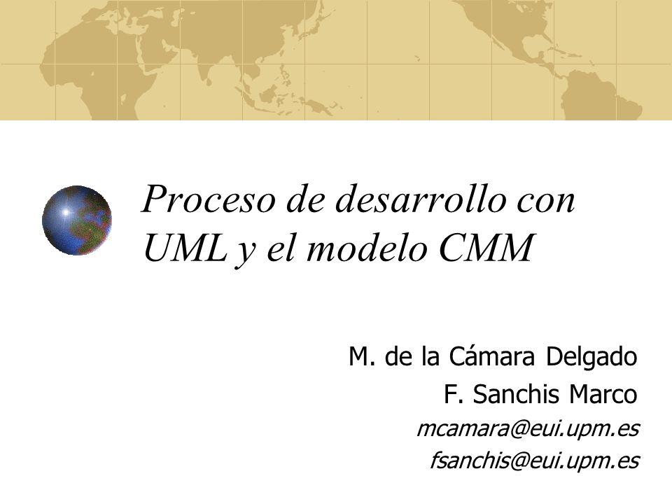 Proceso de desarrollo con UML y el modelo CMM M.de la Cámara Delgado F.