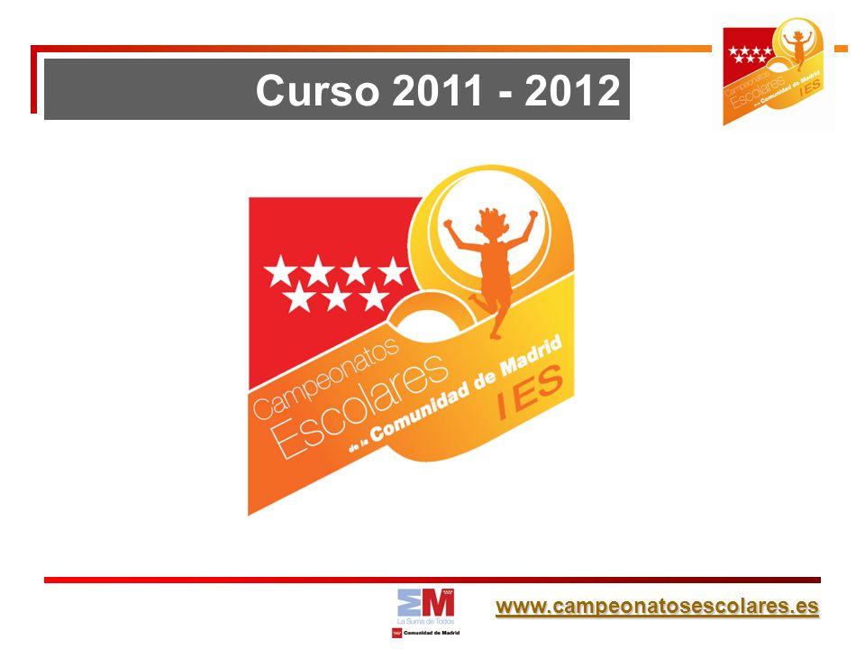 www.campeonatosescolares.es Curso 2011 - 2012