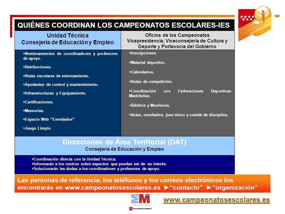www.campeonatosescolares.es Inscripciones. Material deportivo.