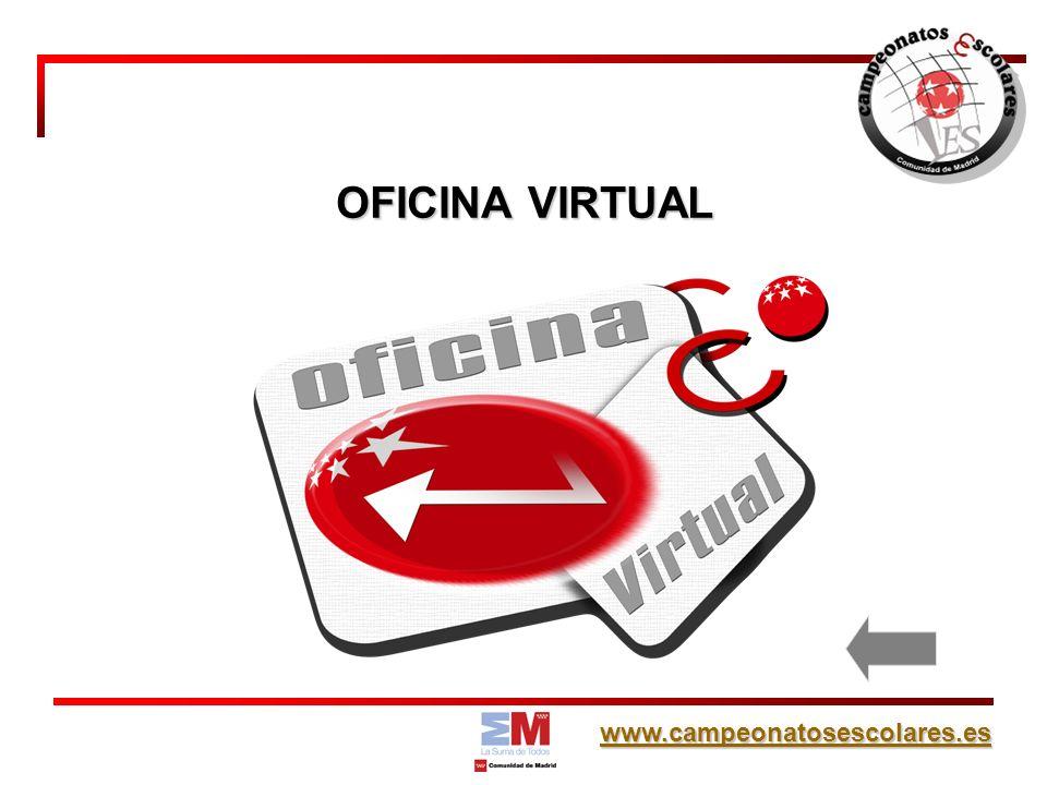 www.campeonatosescolares.es OFICINA VIRTUAL