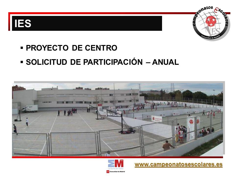 www.campeonatosescolares.es Se establece un premio al Juego Limpio, que potencia las actitudes relacionadas con los valores del deporte entre los alumnos de Campeonatos Escolares.