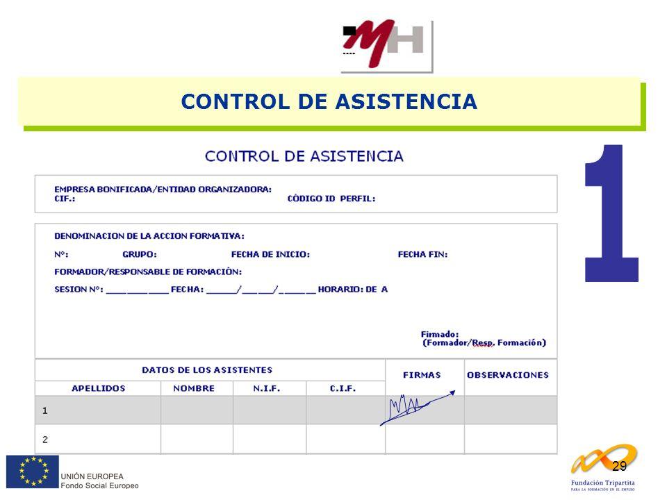 29 CONTROL DE ASISTENCIA