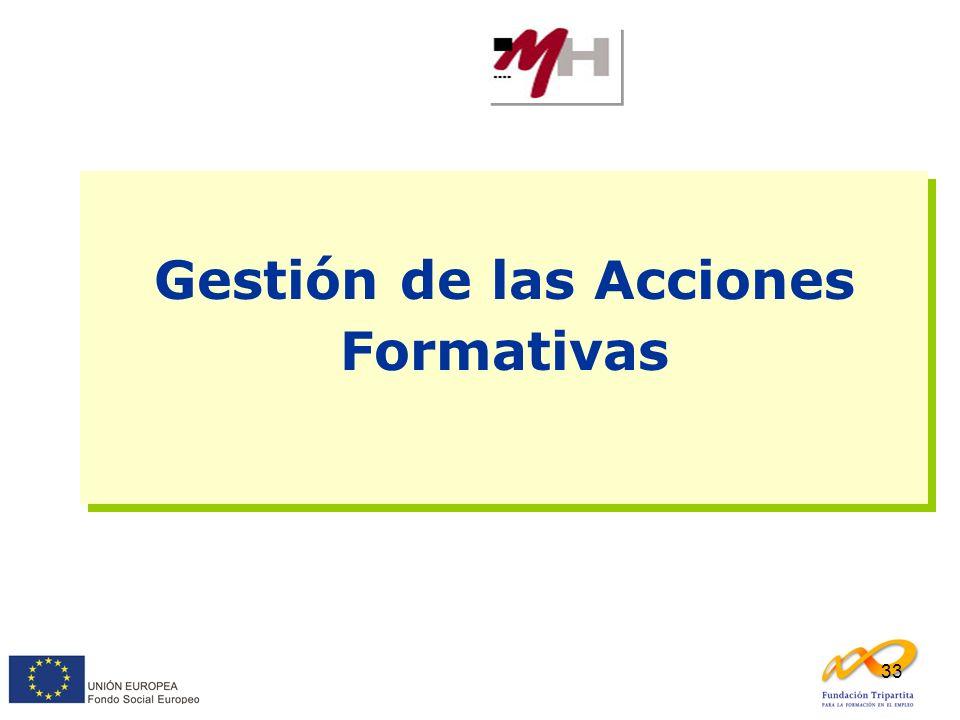33 Gestión de las Acciones Formativas